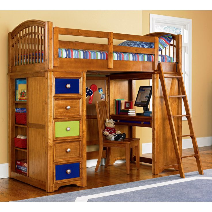16 Best Images About Loft Bed With Dresser Desk On Pinterest