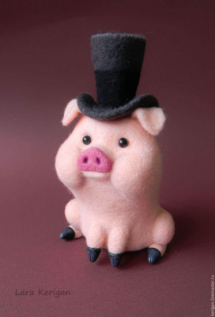 Купить поросенок Пухля - бледно-розовый, поросенок, свин, свинья, герой мультфильма, гравити фолс