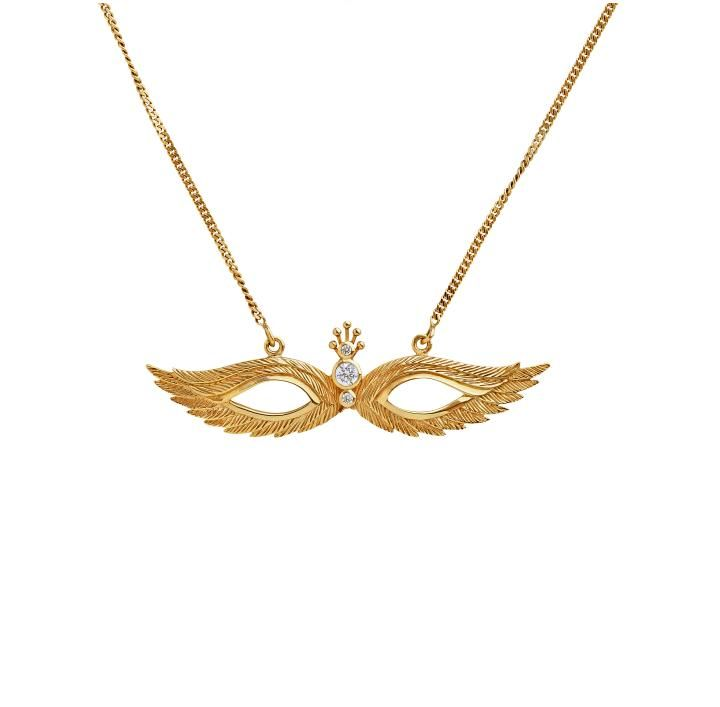 Wings Malak Gold necklace with three diamond settings. Just bought this, can't wait to get it. Love the symbolism in the angle and birds, both have a great deep meaning for me. Kinz Kanaan jewelry Danish design. NSK