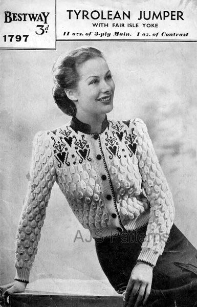 PDF Knitting pattern for a Fair Isle Yoked by TheKnittingSheep, £2.50