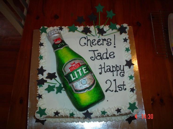 Beer Bottle 21st Cake