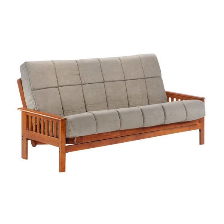 Night and Day Trinity Full Wood Futon Frame Double Futons in Hickory