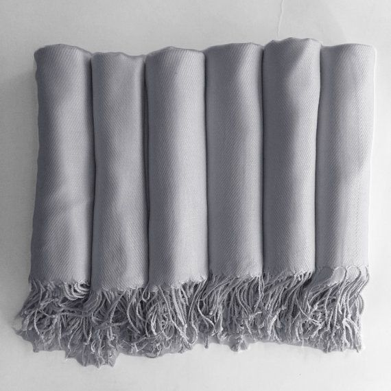 Pashmina shawl in Silver Grey  Bridesmaid Gift by HaydenHarlowPR