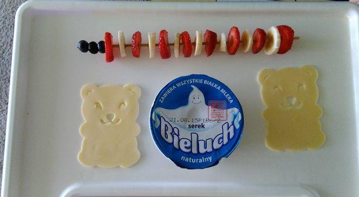 Miśkowe śniadanko i serek Bieluch #śniadanie #inspiracja #pomysł #zdrowe #odżywianie #lunch #dla #dzieci #do #szkoły