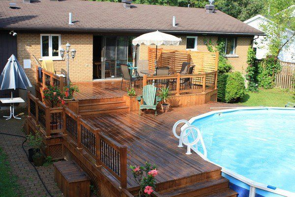 awesome above ground pool deck patio design ideas patio pools ideas