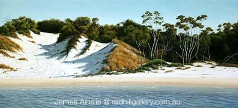 James Ainslie painting.  Cungulla Afternoon. Red Hill Gallery, Brisbane. redhillgallery.com.au