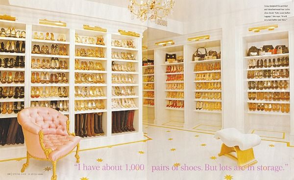 Mariah Carey's closet in InStyle magazine