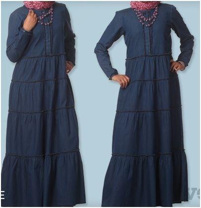 Fine Denim Dress Abaya