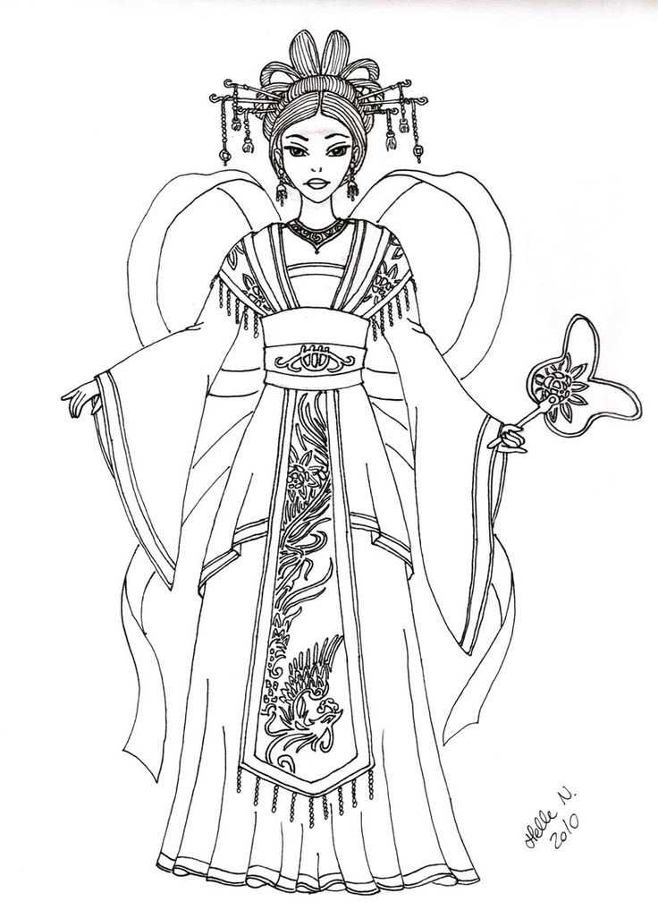 Native American Clothing Coloring Pages
