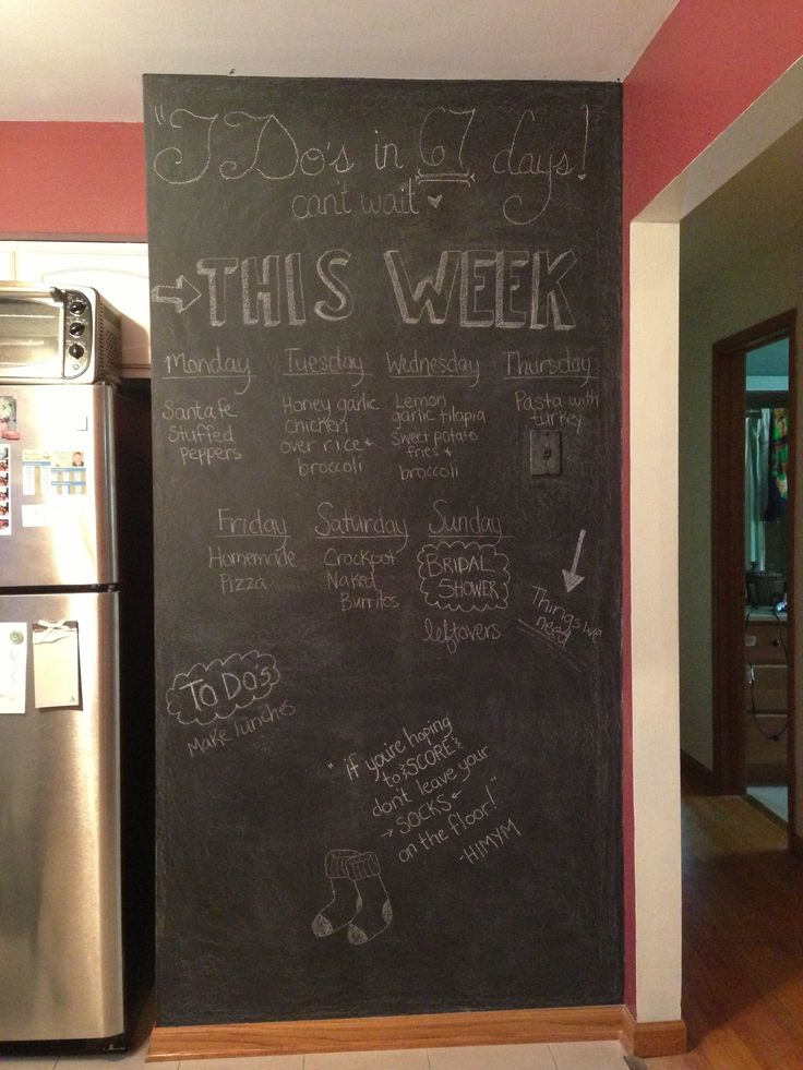 86 best chalkboard walls images on pinterest chalk talk for Kitchen chalkboard