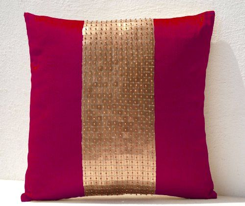 Amore Beaute Handmade Throw Pillow Covers - Fuchsia Gold ... http://www.amazon.com/dp/B00F7GWYSS/ref=cm_sw_r_pi_dp_vQUoxb19GZM1H