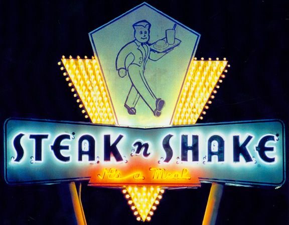 Steak n shake vintage signs and neon lights pinterest for Home decor 756 lemay ferry
