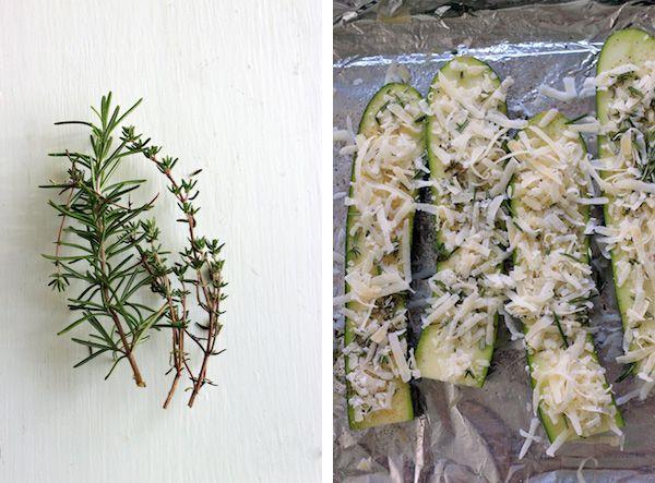 crusty parmesan-herb zucchini bites   According to Elle