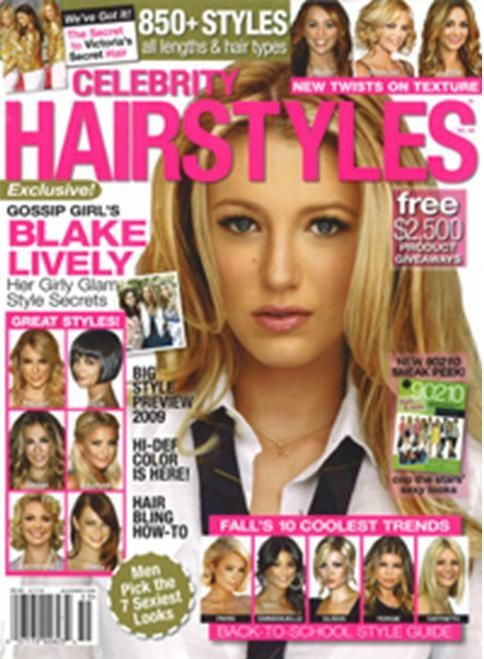 Celebrity Hairstyle magazine are pics of celebrities with the haircut because that's basically from title. Also the way they've stated 'Blake Lively; her girly glam style secrets' attracts teenagers because Blake lively is popular nowadays so girlswant the same hairstyle as her. And the dominant image they've used for this magazine is Blake's face with her 'hairstyle'. Add to that the magazine have stated that 'New twist on texture' makes people who wants their hair to be new with texture…