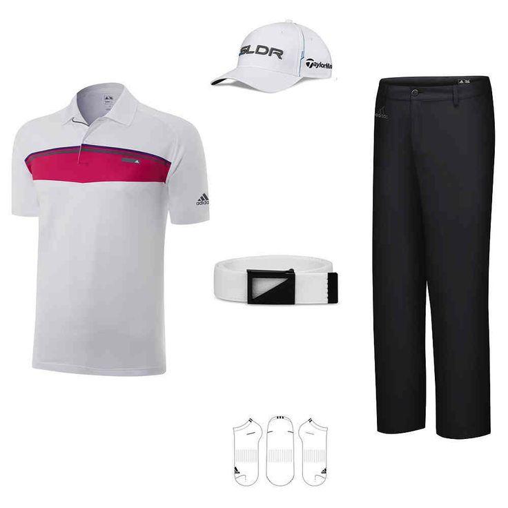 "Golfbekleidung Herren Kollektion adidas ""Magenta"" #golfoutfit"