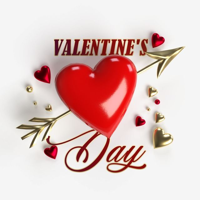 Happy Valentines Day Graphic With Red And Golden Hearts Isolated On Transparent Background Balloon Surprise Creative Png Transparent Clipart Image And Psd Fi Happy Valentines Day Card Happy Valentines Day Images