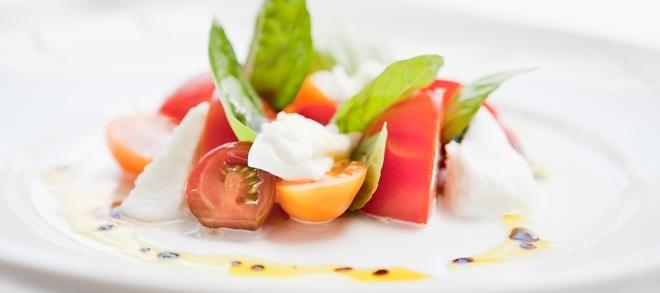 Contemporary seasonal entree at Palette's Restaurant - The Sebel Suites Brisbane