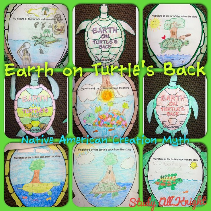 Earth on Turtle's Back Native American Creation Myth- great for back to school!