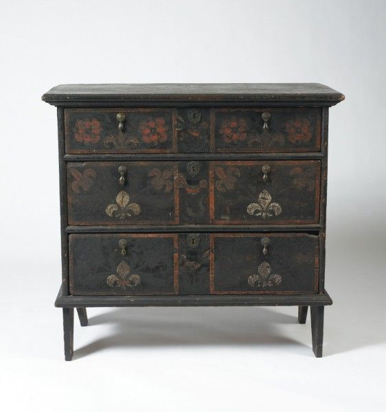 Circa Painted and Polychrome Decorated Chest, CT or MA - 36 Best Furniture Images On Pinterest Antique Furniture, Colonial