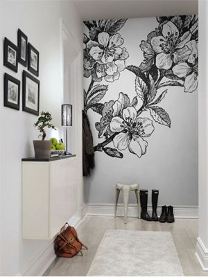 Adesivo de parede flor e mural de fotos. Nós <3