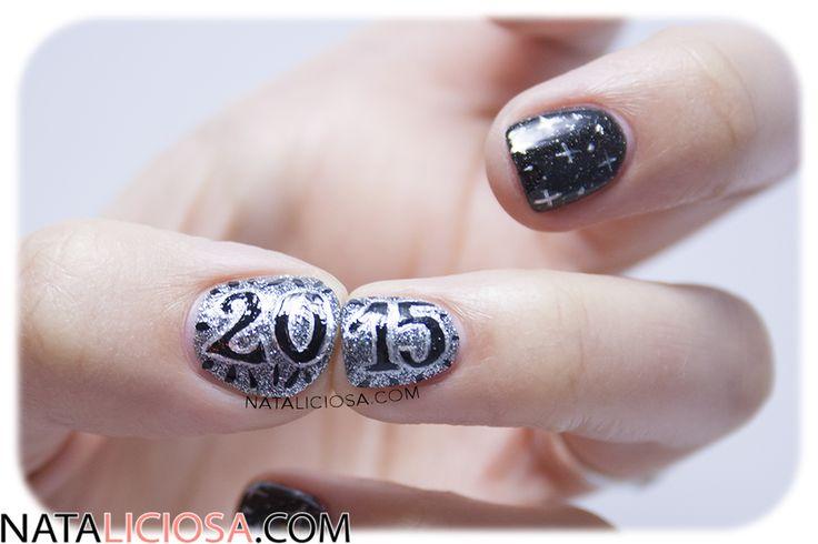 feliz 2015 - manicura a mano alzada