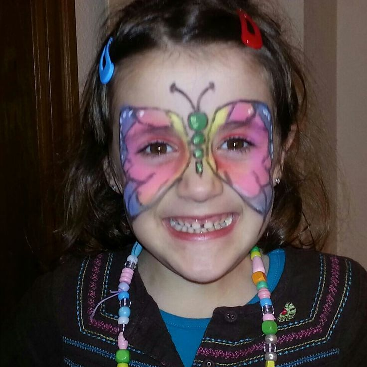 Face painting. Butterfly. Pintacaras. Mariposa.