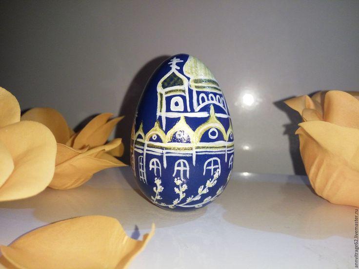 """Купить Яйцо пасхальное """"Церковь"""" - бирюзовый, яйцо пасхальное, Сувенир к Пасхе, подарки к пасхе"""