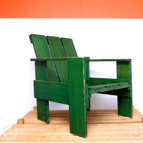 Authentieke cratechair Gerrit Rietveld (1938) http://nl.kapaza.be/vlaams-brabant/authentieke-cratechair-gerrit-rietveld--1938--62281071.htm