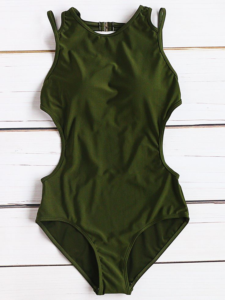 Shop Army Green Side Cutout Sexy Monokini online. SheIn offers Army Green Side Cutout Sexy Monokini & more to fit your fashionable needs.