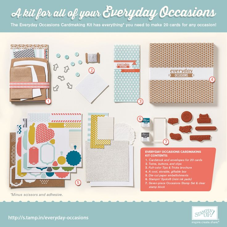 A kit for all of your Everyday Occasions!: Cards Ideas, Everyday Occa, Cards Kits, Cardmaking Kits, Website, Occa Kits, Occa Cardmaking, Occa Cards, 20 Cards