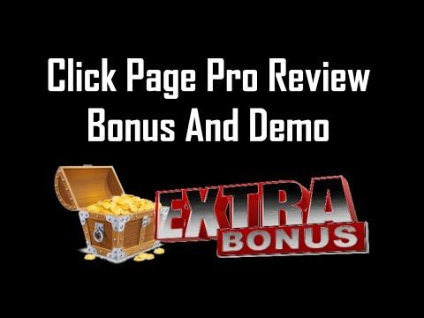 Click Page Pro Review | Click Page Pro Bonus And Demo - YouTube