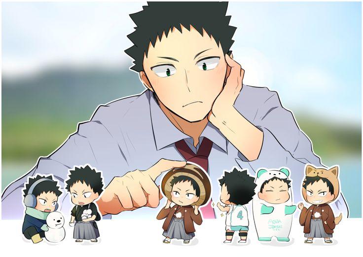 Iwaizumi and little Iwa-chans!