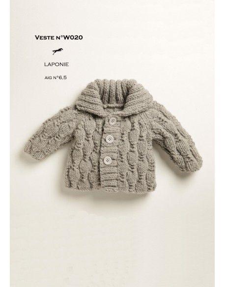 Model JACKET W020 - Free knitting pattern