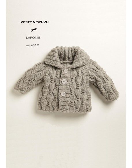 Model JACKET W020 - Free knitting pattern