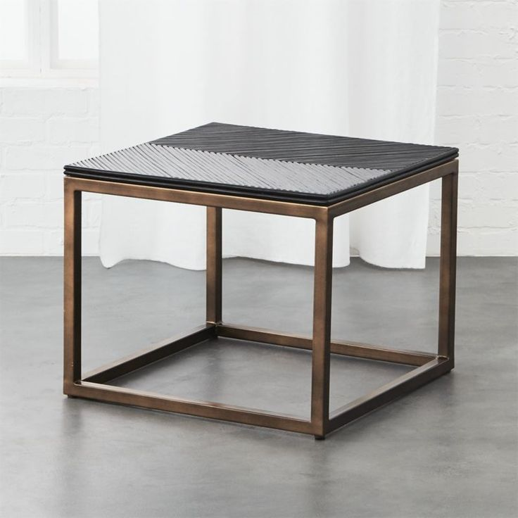 crate and barrel coffee table marble