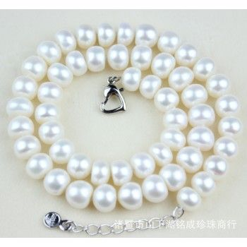 8.5-9.5mm Light Flawless Natural Pearl Necklace Extend Chain Necklace