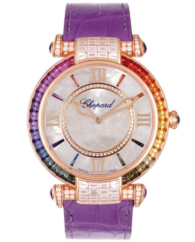 Chopard Imperiale watch in rose gold, pearl, sapphire, diamonds