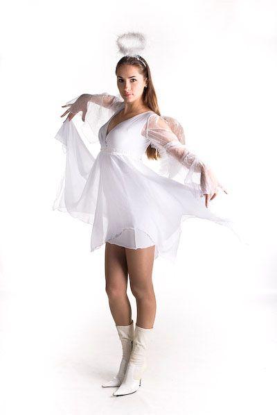 Костюм ангела для девушки с нимбом и крыльями — http://fas.st/sZnWq0
