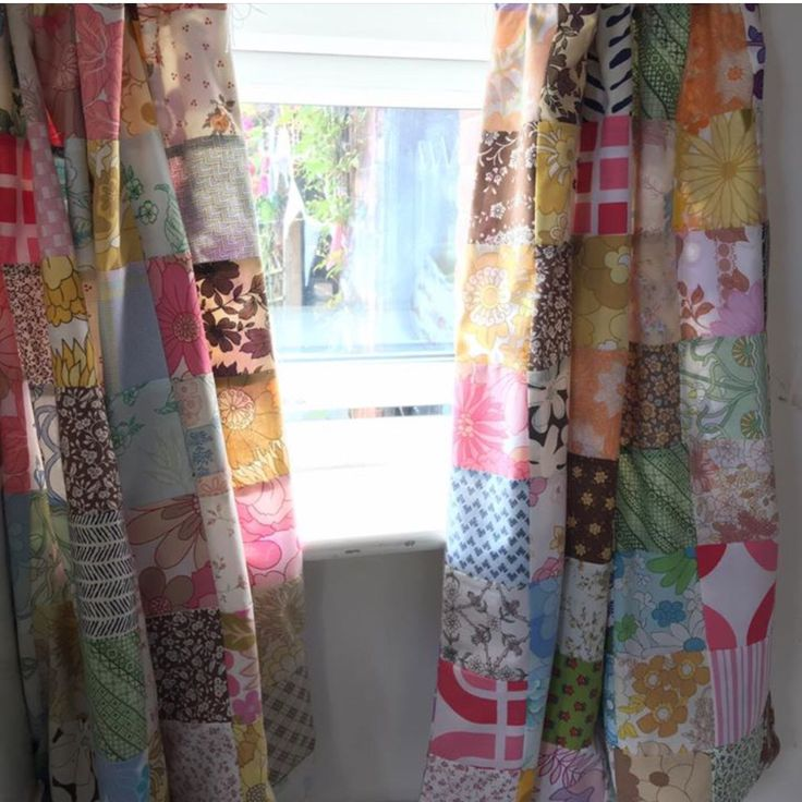 Patchwork Curtains Made With Vintage Fabrics
