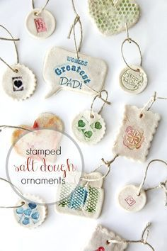 Easy Stamped Salt Dough Ornaments