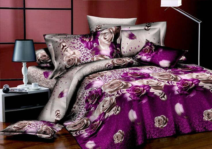Purple Roses Bedding 3d Duvet Cover Set 3d Bedding
