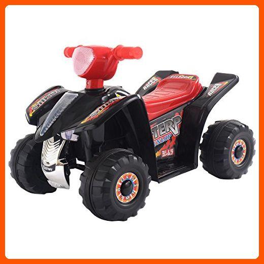Costzon 6V Products Kids ATV Quad 4 Wheeler Ride On On with 6V Battery Power Led Lights - Toys for little kids (*Amazon Partner-Link)