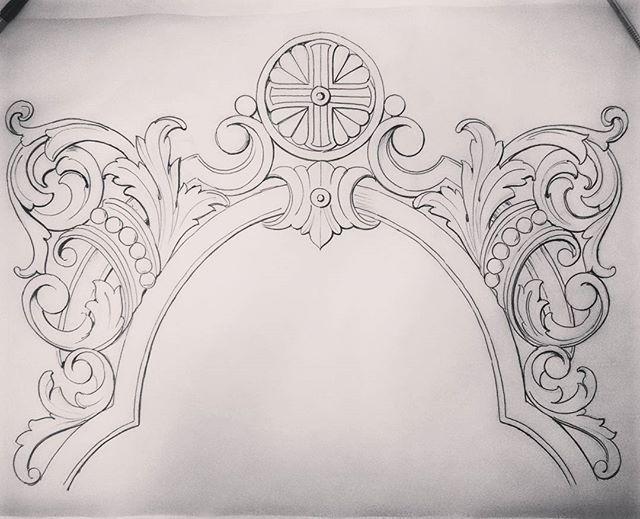 Обрамление иконы местного ряда в иконостасе. Ужас сколько сил уходит на рисунки... Хочу резать..) #проектирование#иконостас#декор#искусство#резьбаподереву#орнаменты#узоры#Рисуноккарандашом#рама #рисунок#графика#эскиз#patterns#sketch#decor#drawingart#woodart#woodcarving#cruz#frame#graffics#art#artist#pencilart#шедевр#художник#designart#набумаге