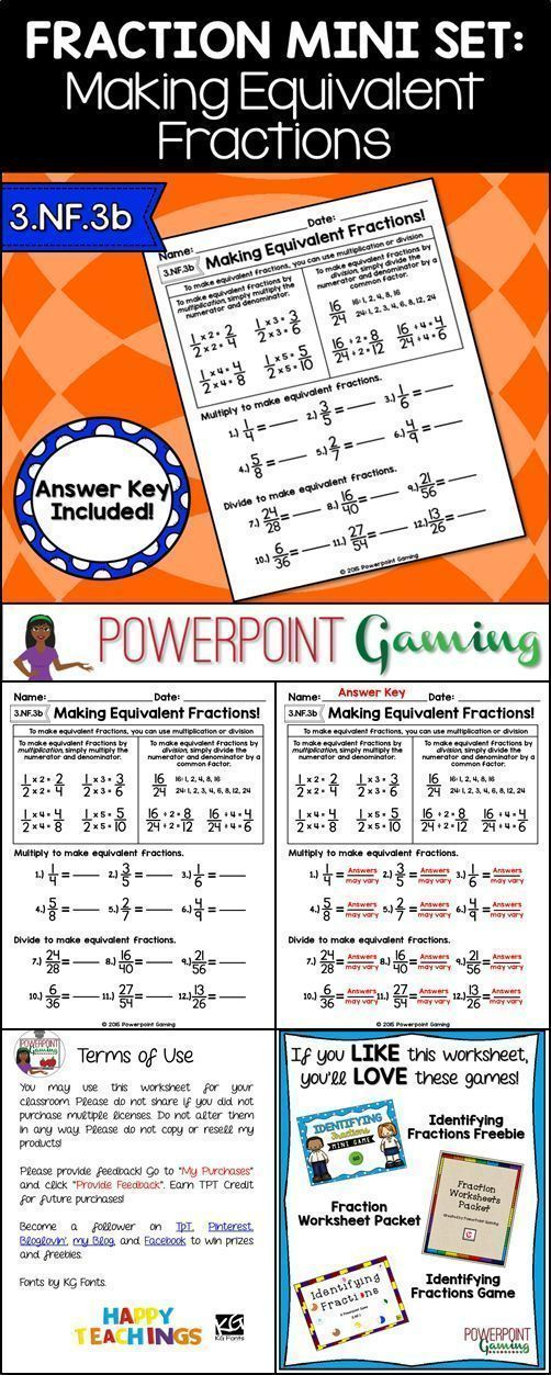 Fraction Mini Set Making Equivalent Fractions Worksheet – Making Equivalent Fractions Worksheet