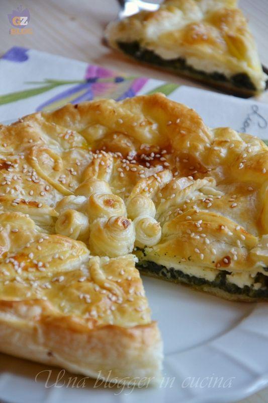 Torta rustica spinaci e stracchino