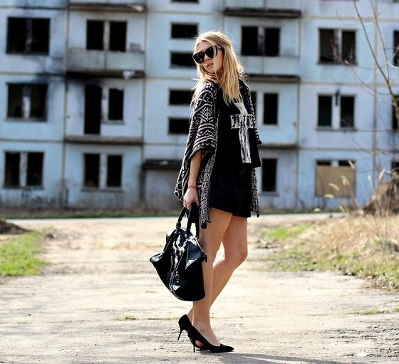 Bechick.Com Top, Brandy Melville Cardigan, Balenciaga Bag, Celine Sunglasses, Zara Heels, Zara Shorts