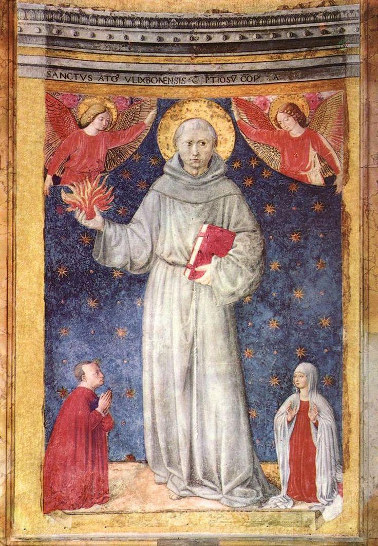 St Anthony of Padua. 1450s Panel Santa Maria d' Aracoeli, Rome.