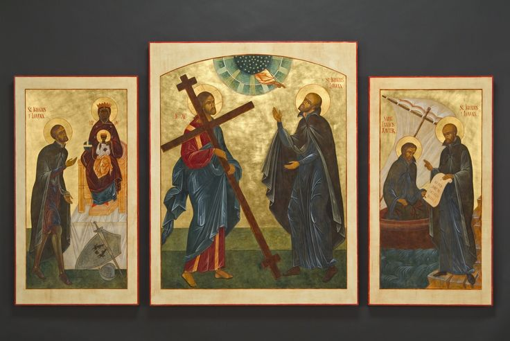 Jesuit Triptych, through the hand of Kathy Sievers, Jesuit Center, Portland, OR, 2004