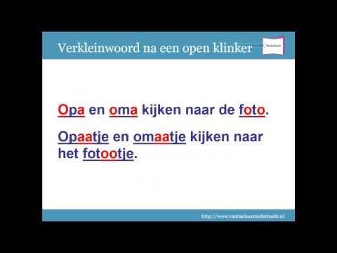 Spellingregels deel 5: Verkleinwoorden - YouTube