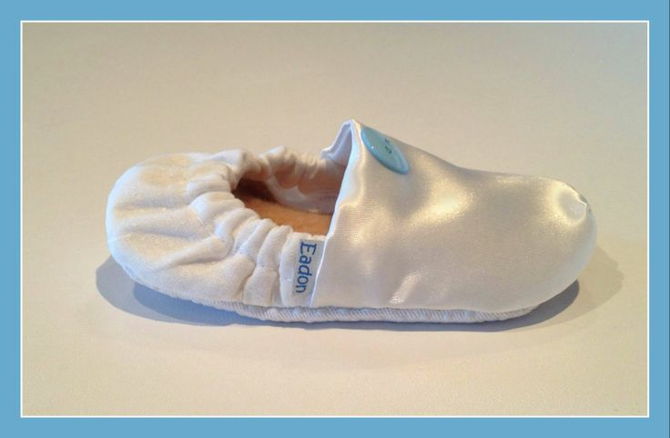White Satin & Cotton Baby Baptism Booties  www.bellababybooties.weebly.com